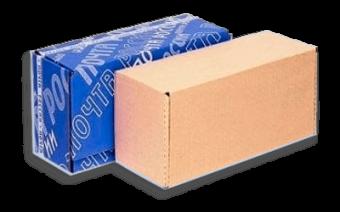 Почтовая коробка бурая Тип В (№4) (425x165x190 мм), картон Т-23 для посылок — размеры и цена